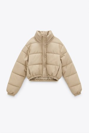 FAUX LEATHER PUFFER JACKET | ZARA United Kingdom