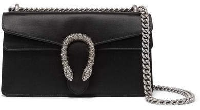 Dionysus Satin Shoulder Bag - Black