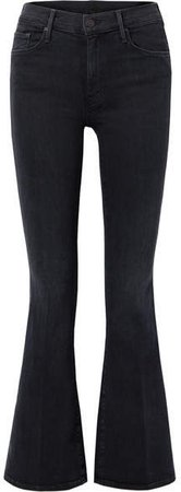 The Weekender High-rise Flared Jeans - Black