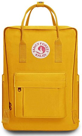 Amazon.com: KALIDI Casual Backpack for Women,15 Inches Laptop Classic Backpack Camping Rucksack Travel Outdoor Daypack College School Bag, Yellow: Clothing