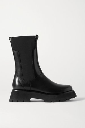 Kate Leather Chelsea Combat Boots - Black