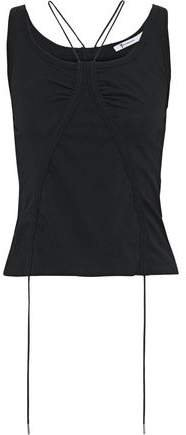 Ruched Cotton-jersey Tank