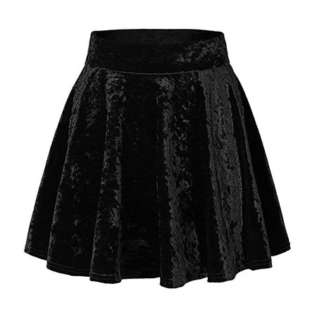 Urban CoCo Women's Vintage Velvet Stretchy Mini Flared Skater Skirt at Amazon Women's Clothing store
