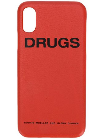 Raf Simons Capa IPhone X 'Drugs' Em Couro - Farfetch