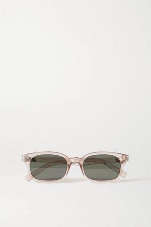 Clear Carmito square-frame acetate sunglasses | Le Specs | NET-A-PORTER