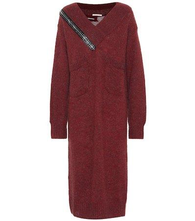Mohair and wool-blend midi dress
