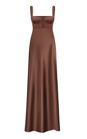 Bustier Satin Maxi Dress By Anna October | Moda Operandi