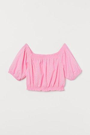 Off shoulder Top - pink - Ladies | H&M US