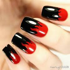 red and black nails - Google Search