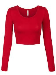 red crop top long sleeve - Google Search