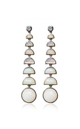 Nakard Ballbearing Sterling Silver Ethiopian Opal Earrings By Nak Armstrong | Moda Operandi
