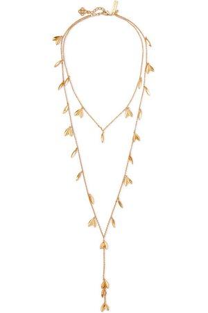 Oscar de la Renta | Dot Leaf gold-tone necklace | NET-A-PORTER.COM