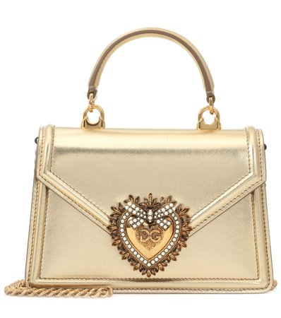 Dolce & Gabbana - Devotion Small leather shoulder bag   Mytheresa