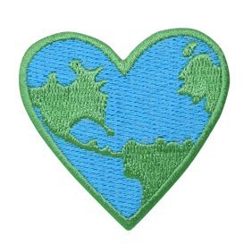 Planet Earth - World - Green/Blue - Ecology - Iron on Applique/Embroidered Patch - Walmart.com - Walmart.com