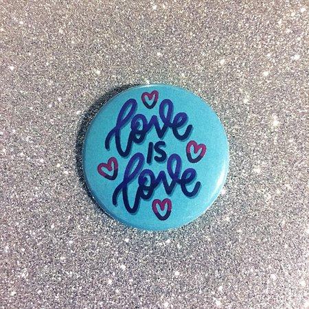 Love is Love Bi Pride Pin