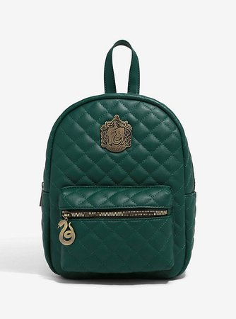 Harry Potter Slytherin Quilted Mini Backpack