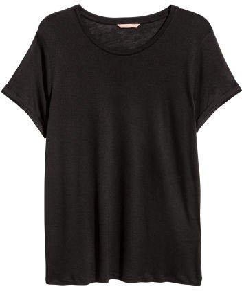 H&M+ Jersey Top - Black
