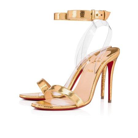 Jonatina 100 Gold/Transp Specchio/Laminato - Women Shoes - Christian Louboutin