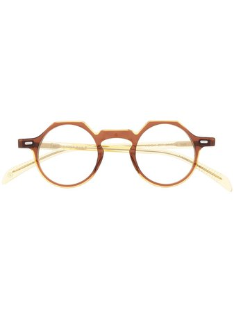 Lesca Yoga round-frame Glasses - Farfetch