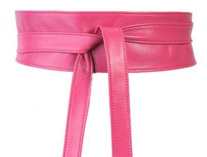 Pink obi belt - leather tie belt UK - OnceUponaBelt