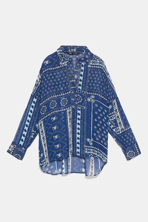 PATCHWORK PRINT BLOUSE - View All-SHIRTS | BLOUSES-WOMAN | ZARA United States