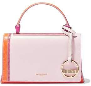 Pilot Mini Color-block Leather Shoulder Bag