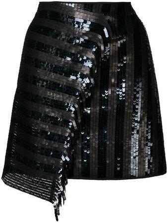 Dorothee sequinned asymmetric skirt
