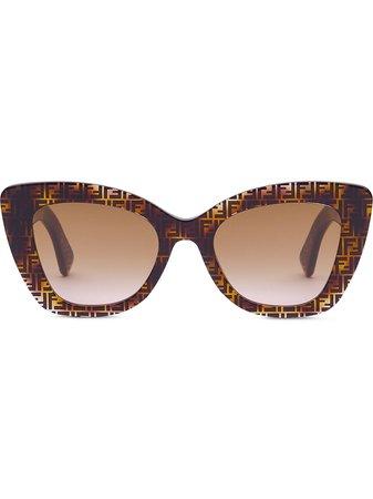 Fendi F Is Fendi Cat eye-solglasögon - Farfetch