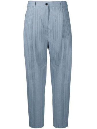 Acne Studios Pinstripe Cropped Trousers - Farfetch