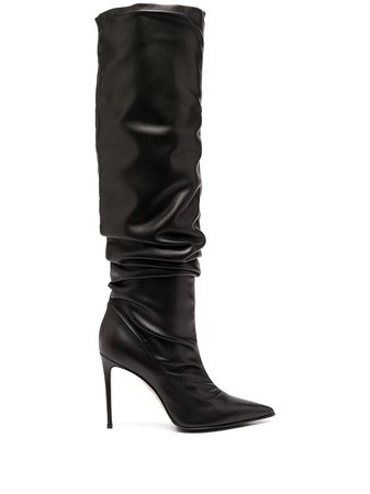 Le Silla pointed ruched boots - FARFETCH