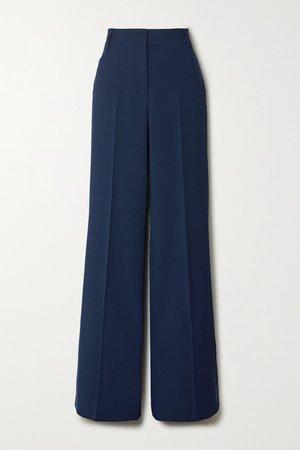 Blue Floyd wool-twill wide-leg pants | Akris | NET-A-PORTER