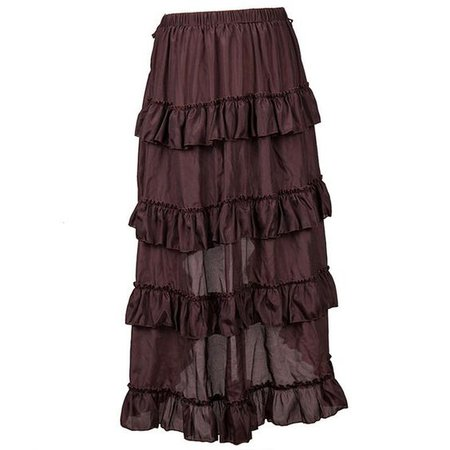 brown skirt grunge fairycore