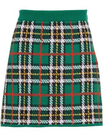 Miu Miu Plaid Mini Skirt