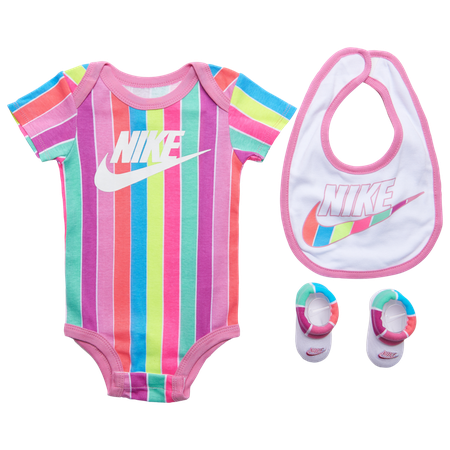 Nike Rainbow Stripe Bib, Bodysuit 3 Pc Set - Girls' Infant | Champs Sports