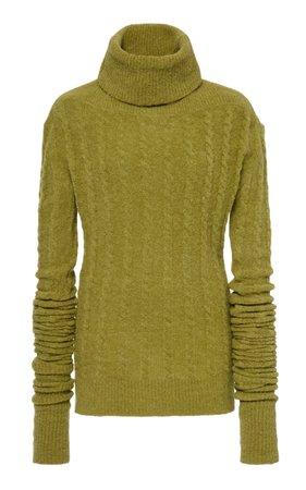 La Maille Sofia Cable-Knit Turtleneck Sweater by Jacquemus   Moda Operandi
