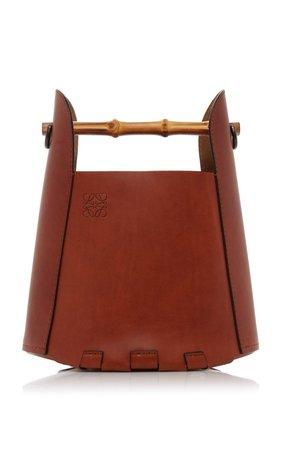 Bamboo Leather Bucket Top Handle Bag by Loewe | Moda Operandi
