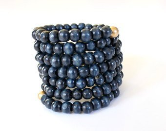 Beaded bracelet chunky bracelet beaded bracelet wrap cuff | Etsy