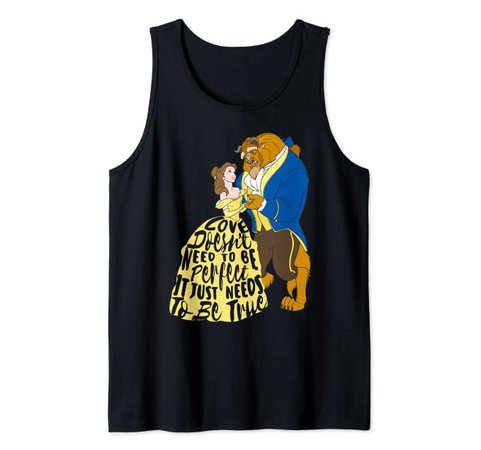 Amazon.com: Disney Beauty And The Beast True Love Tank Top: Clothing