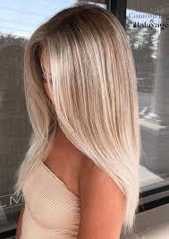 blonde straight hairstyles