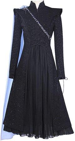 Amazon.com: iCos Women's Black Shinning Long Sleeve Tuxedo Suits and Chiffon Dress Cosplay Halloween Costume Chain Cape (Medium): Clothing