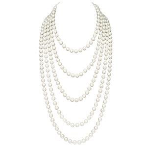 BABEYOND Art Deco Fashion Faux Pearl Necklace - A Posh Affair