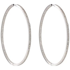Ambre Victoria Women's Oversized Hinged Hoops