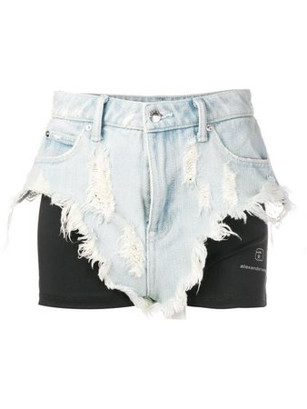 Alexander Wang layered denim shorts