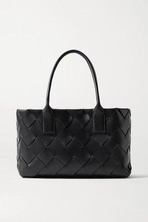 Cabas Small Intrecciato Leather Tote - Black