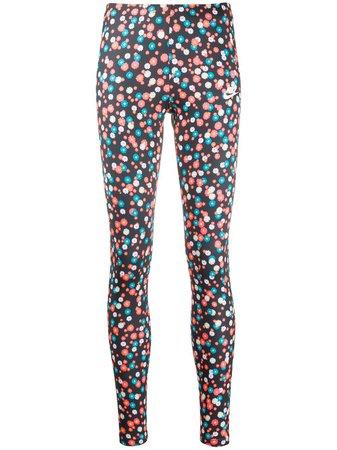Nike floral-print Branded Leggings - Farfetch