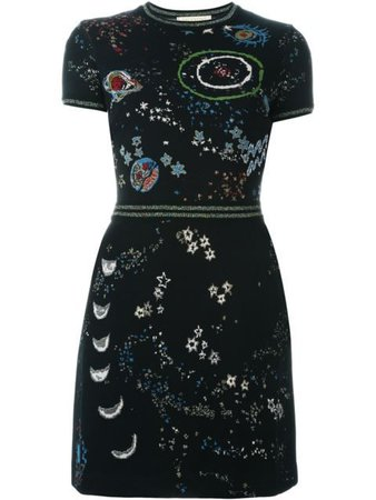 Valentino galaxy day dress