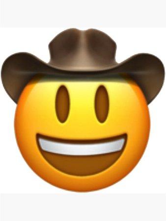 emoji cow-boy