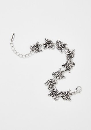 Widow Silver Rose Bracelet | Dolls Kill