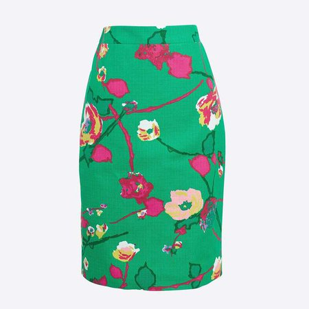 Basketweave pencil skirt