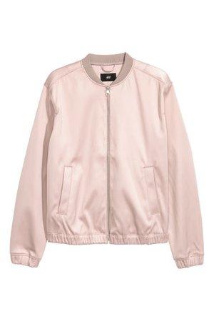 Satin Bomber Jacket - Light pink - Men | H&M US